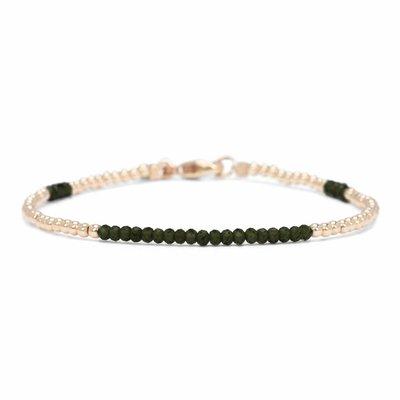 MIAB Jewels MIAB Armband | Goud | Green | 14k Gold Filled