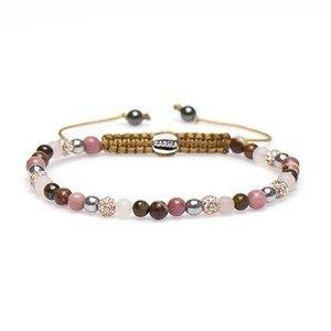 KARMA Jewelry KARMA Armband | Spiral Victoria XXS | Roze Crystal | 84303