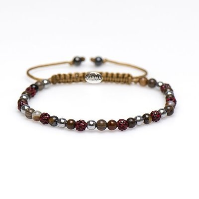 KARMA Jewelry KARMA Armband | Spiral Romy XXS | Red Crystal | 84287