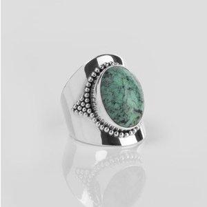 YMALA YMALA Ring | 925 Zilver | Turkoois edelsteen