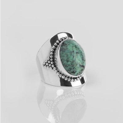 YMALA YMALA Ring | 925 Zilver | Turkoois edelsteen | YM-0004