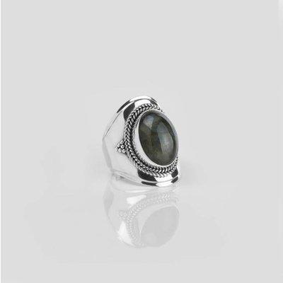 YMALA YMALA Ring | 925 Zilver | Labradoriet edelsteen | YM-0008