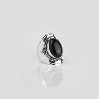 YMALA YMALA Ring   925 Zilver   ONYX edelsteen   YM-0009