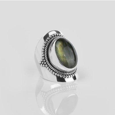 YMALA YMALA Ring | 925 Zilver | Labradoriet edelsteen | YM-0010