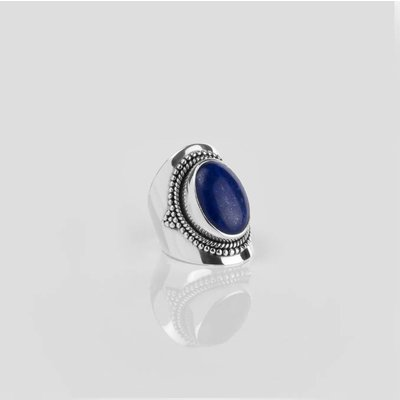 YMALA YMALA Ring   925 Zilver   Lapis Lazuli edelsteen   YM-0011