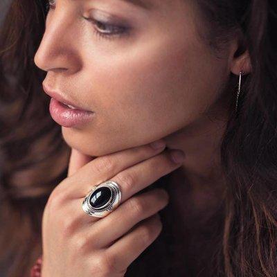 YMALA YMALA Ring | 925 Zilver | ONYX edelsteen | YM-0014