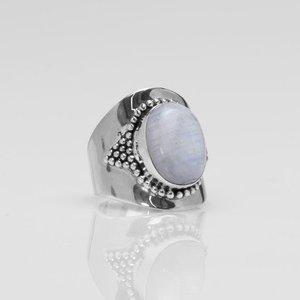 YMALA YMALA Ring | 925 Zilver | Maansteen edelsteen