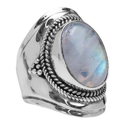 YMALA YMALA Ring | 925 Zilver | Maansteen edelsteen | YM-0026