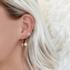 BY NOUCK BY NOUCK Earrings | PEARL CROSS | GOLD