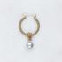 BY NOUCK BY NOUCK Earrings   TWISTED HOOPS WHITE PEARL   GOLD
