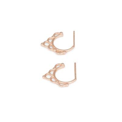 MIAB Jewels MIAB Oorbellen | Rose Goud | Curly | 14k Rose Goud Vermeil