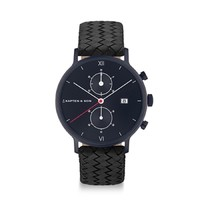 KAPTEN & SON KAPTEN & SON Horloge | CHRONO | BLACK MIDNIGHT WOVEN