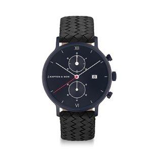 KAPTEN & SON KAPTEN & SON Horloge   CHRONO   BLACK MIDNIGHT WOVEN