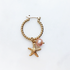 BY NOUCK BY NOUCK Earrings | TWISTED HOOPS STARFISH PEARL | GOLD