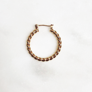 BY NOUCK BY NOUCK Earrings | TWISTED HOOPS | GOLD