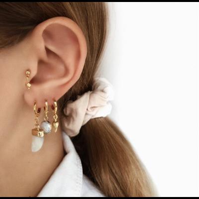 BY NOUCK BY NOUCK Earring | WHITE HORN | GOLD