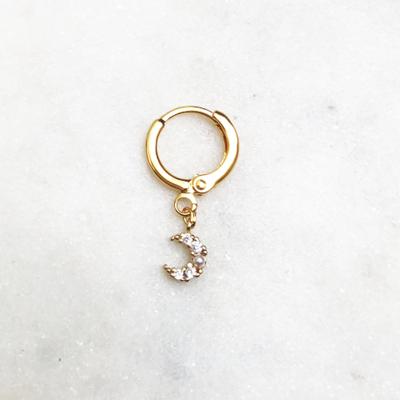 BY NOUCK BY NOUCK Earring | SHINING MOON | GOLD
