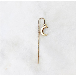 BY NOUCK BY NOUCK Earrings | LONG MOON CHAIN | GOLD