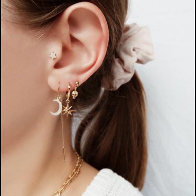 BY NOUCK BY NOUCK Earring | LONG MOON CHAIN | GOLD
