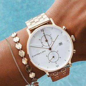 KAPTEN & SON KAPTEN & SON Horloge | CHRONO | GOLD | 40 MM