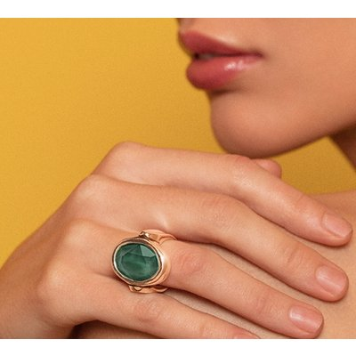 UNOde50 UNOde50 Ring | ORION | Zilver | Kristal | Green | SS19 | ANI0587VRDMTL