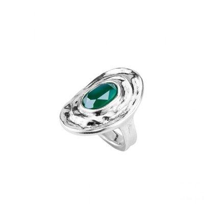 UNOde50 UNOde50 Ring | TEOTL | Zilver | Kristal | Green |  ANI0588VRDMTL