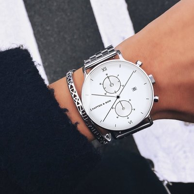 KAPTEN & SON KAPTEN & SON Horloge | CHRONO | ZILVER