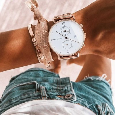 KAPTEN & SON KAPTEN & SON Horloge | CHRONO | ROSE | 40 MM