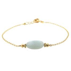 LILLY LILLY Armband | Precious Oval Gold | Amazoniet | 14 Karaats