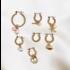 BY NOUCK BY NOUCK Earrings | TWISTED HOOPS PEARL LOVE  | GOLD