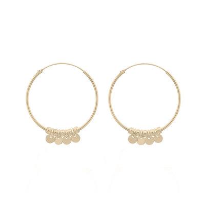MIAB Jewels MIAB Oorbellen | Goud | Coins | 14k Goud Vermeil
