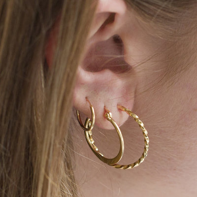 MIAB Jewels MIAB Oorbellen | Goud | Twirly Big | 14k Goud Vermeil