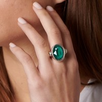 UNOde50 UNOde50 Ring | ORION | Zilver | Kristal | Green | SS19