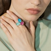 UNOde50 UNOde50 Ring | TREASURE | Zilver | Kristal | SS19 | ANI0591MCLMTL