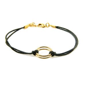 LILLY LILLY Armband | Friendship Cord | Black | 14 Karaats