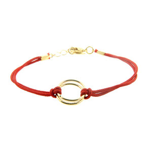 LILLY LILLY Armband | Friendship Cord | Red | 14 Karaats