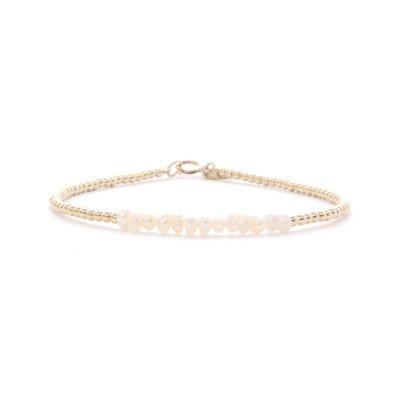 MIAB Jewels MIAB Armband | Goud | Parel | 14k Gold Filled