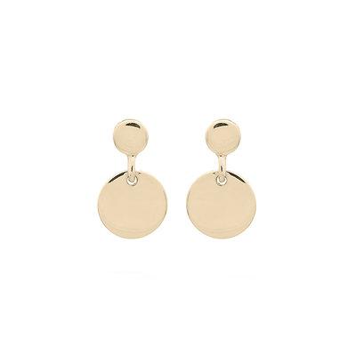 MIAB Jewels MIAB Oorbellen | Goud | Twice | 14k Goud Vermeil