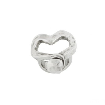 UNOde50 UNOde50  Ring | NAILED HEART | Zilver Hart | ANI0265MTL000