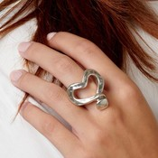 UNOde50 UNOde50  Ring   NAILED HEART   Zilver Hart   ANI0265MTL000