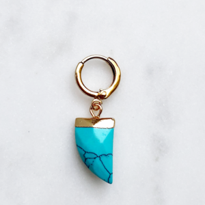 BY NOUCK BY NOUCK Earrings | TURQUOISE HORN | GOLD