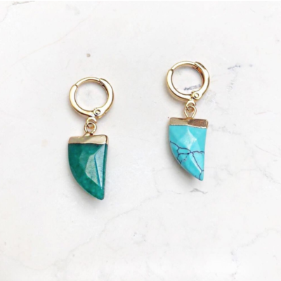 BY NOUCK BY NOUCK Earring | TURQUOISE HORN | GOLD
