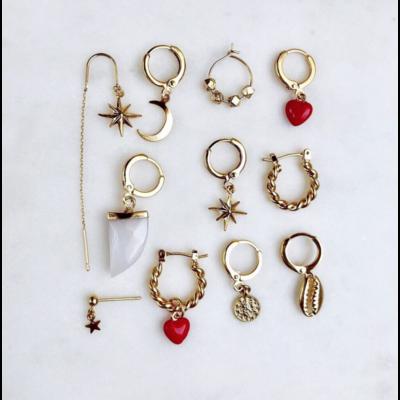 BY NOUCK BY NOUCK Earring | LOVE RED | GOLD