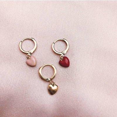BY NOUCK BY NOUCK Earring | LOVE SOFT PINK | GOLD