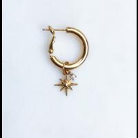 BY NOUCK BY NOUCK Earrings | HOOPS NORTHSTAR PEARL | GOLD