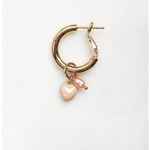 BY NOUCK BY NOUCK Earrings | HOOPS SOFT PINK PEARL | GOLD