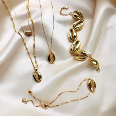 BY NOUCK BY NOUCK Necklace | Twisted | Long Shell | Gold