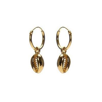 KARMA Jewelry KARMA CREOLEN | HOOPS SHELL 3 | VERGULD| M2338
