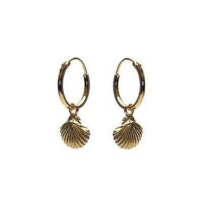 KARMA Jewelry KARMA CREOLEN | HOOPS SHELL  | GOLD | M2263