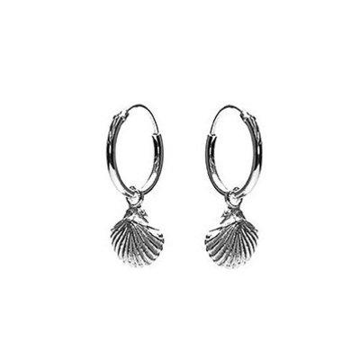 KARMA Jewelry KARMA CREOLEN | HOOPS SHELL | ZILVER | M2261